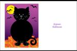 Chatte noire d'Halloween Cartes de souhaits pliées en deux - gabarit prédéfini. <br/>Utilisez notre logiciel Avery Design & Print Online pour personnaliser facilement la conception.