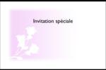 Trois fleurs Cartes de souhaits pliées en deux - gabarit prédéfini. <br/>Utilisez notre logiciel Avery Design & Print Online pour personnaliser facilement la conception.