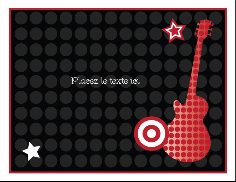 """4¼"""" x 5½"""" Cartes de notes - Guitare d'anniversaire"""