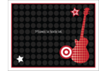 Guitare d'anniversaire Cartes de notes - gabarit prédéfini. <br/>Utilisez notre logiciel Avery Design & Print Online pour personnaliser facilement la conception.