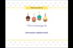 Fournitures d'anniversaire Cartes de notes - gabarit prédéfini. <br/>Utilisez notre logiciel Avery Design & Print Online pour personnaliser facilement la conception.