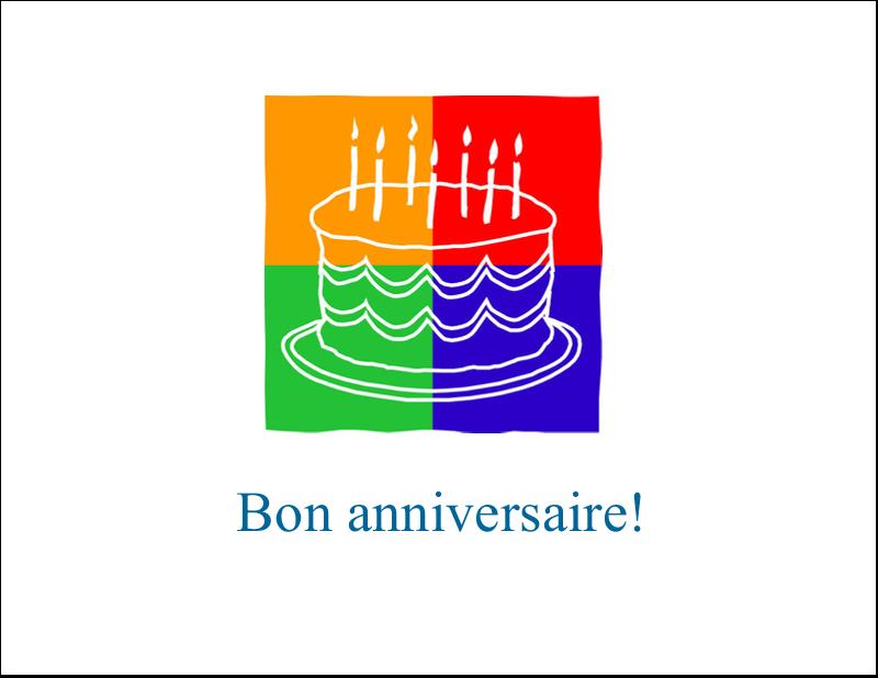 """4¼"""" x 5½"""" Cartes de notes - Gâteau d'anniversaire"""