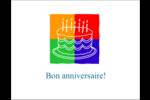 Gâteau d'anniversaire Cartes de notes - gabarit prédéfini. <br/>Utilisez notre logiciel Avery Design & Print Online pour personnaliser facilement la conception.