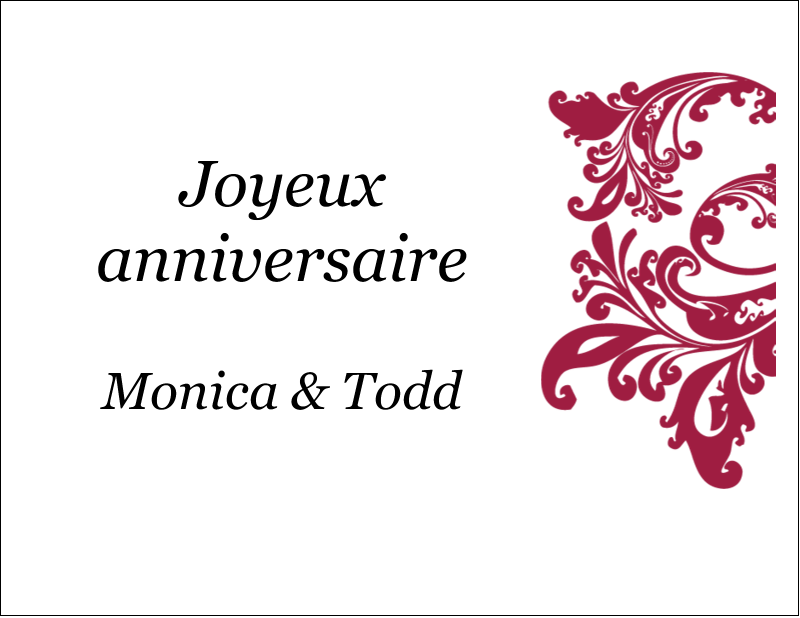 "4¼"" x 5½"" Cartes de notes - Anniversaire"