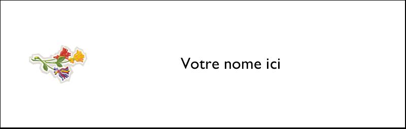 """3½"""" x 11"""" Affichette - Trois fleurs"""