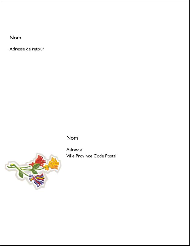 """11"""" x 8½"""" Étiquettes d'expéditions - Trois fleurs"""