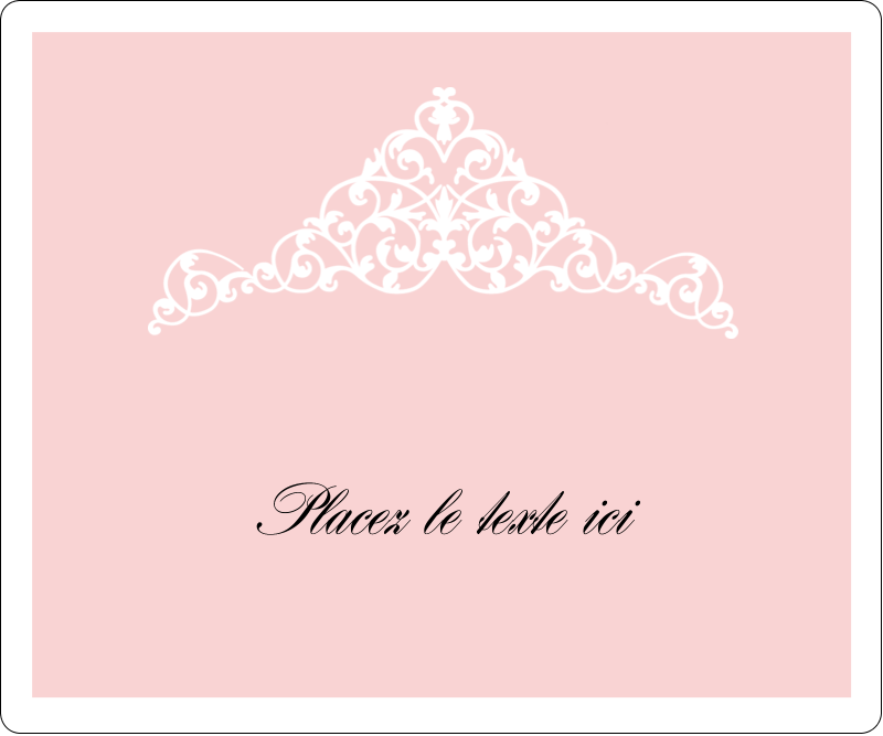 """3⅓"""" x 4"""" Étiquettes d'expédition - Diadème rose"""
