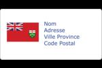 Drapeau de l'Ontario  Étiquettes d'expédition - gabarit prédéfini. <br/>Utilisez notre logiciel Avery Design & Print Online pour personnaliser facilement la conception.