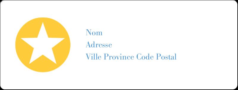 """1"""" x 2⅝"""" Étiquettes d'adresse - Étoiles avec tons bleus et jaunes"""
