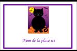 Chatte noire d'Halloween Étiquettes badges autocollants - gabarit prédéfini. <br/>Utilisez notre logiciel Avery Design & Print Online pour personnaliser facilement la conception.