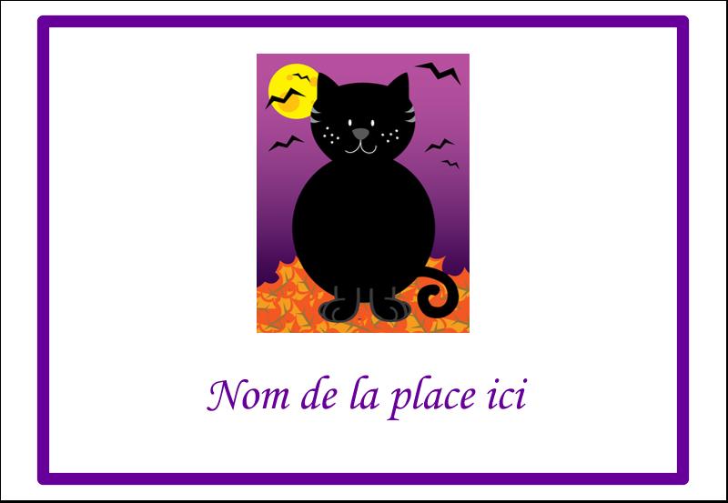 """3⅜"""" x 2⅓"""" Badges - Chatte noire d'Halloween"""