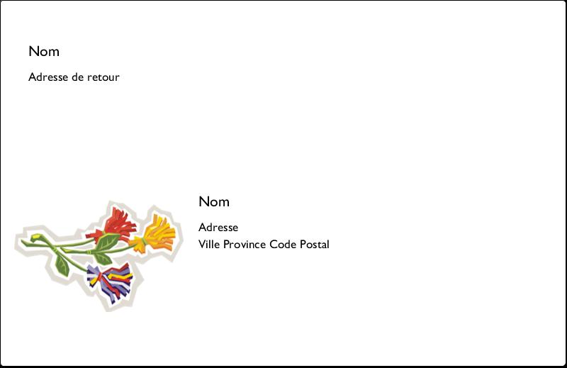 """8½"""" x 5½"""" Étiquettes d'expédition - Trois fleurs"""