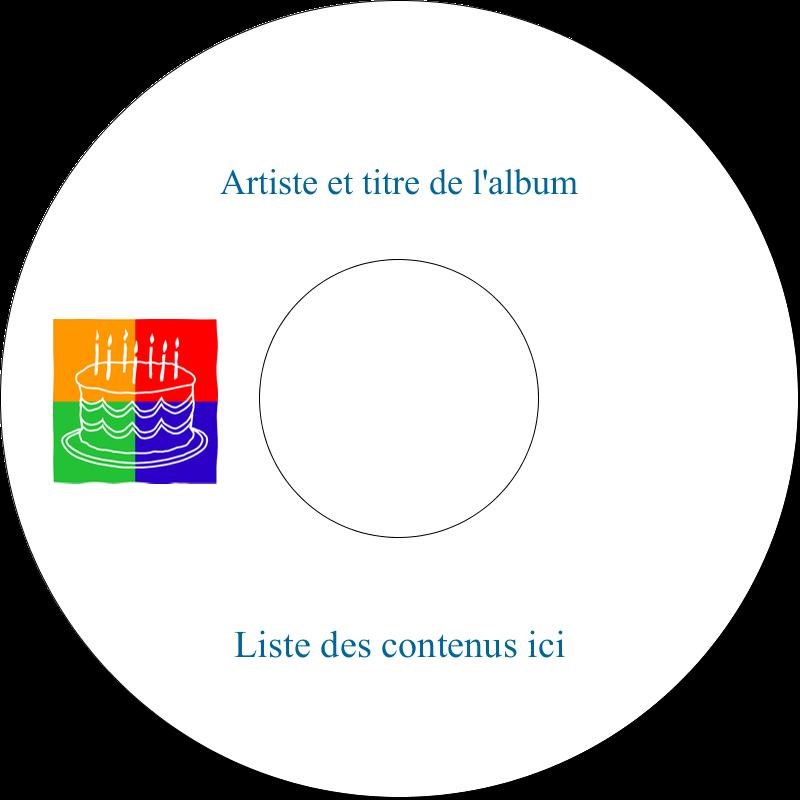 CD/DVD Étiquettes Pour Médias - Gâteau d'anniversaire