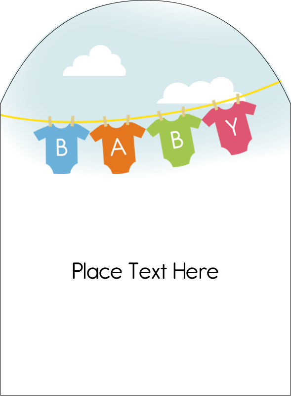 "4¾"" x 3½"" Arched Label - Baby Onesies"