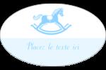 Cheval à bascule Étiquettes ovales - gabarit prédéfini. <br/>Utilisez notre logiciel Avery Design & Print Online pour personnaliser facilement la conception.