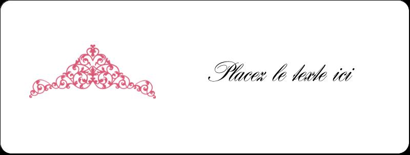 """⅔"""" x 1¾"""" Étiquettes D'Adresse - Diadème rose"""
