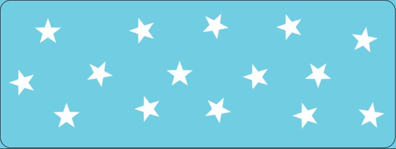 """⅔"""" x 1¾"""" Étiquettes D'Adresse - Étoiles avec tons bleus et jaunes"""