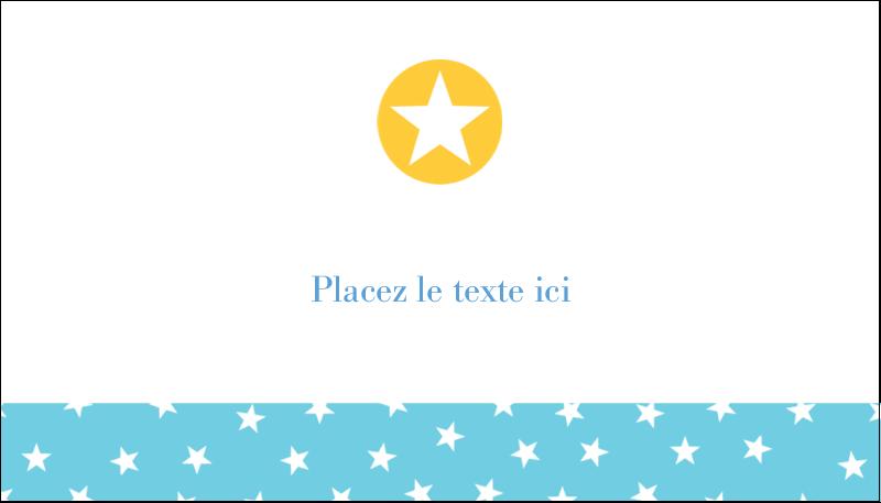"""2"""" x 3½"""" Carte d'affaire - Étoiles avec tons bleus et jaunes"""