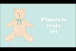 Nounours pour bébé Carte d'affaire - gabarit prédéfini. <br/>Utilisez notre logiciel Avery Design & Print Online pour personnaliser facilement la conception.