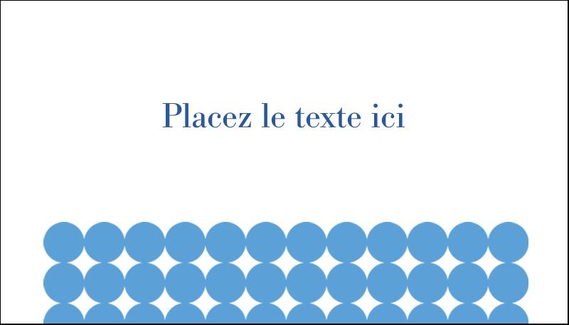 """2"""" x 3½"""" Carte d'affaire - Cercles bleus"""