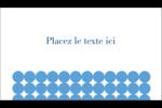 Cercles bleus Carte d'affaire - gabarit prédéfini. <br/>Utilisez notre logiciel Avery Design & Print Online pour personnaliser facilement la conception.