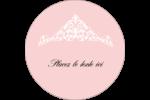 Diadème rose Étiquettes Voyantes - gabarit prédéfini. <br/>Utilisez notre logiciel Avery Design & Print Online pour personnaliser facilement la conception.