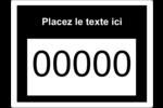Numéros de série Étiquettes D'Identification - gabarit prédéfini. <br/>Utilisez notre logiciel Avery Design & Print Online pour personnaliser facilement la conception.
