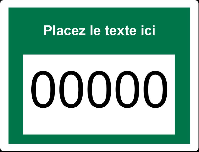 """2⅝"""" x 2"""" Étiquettes D'Identification - Numéros de série"""