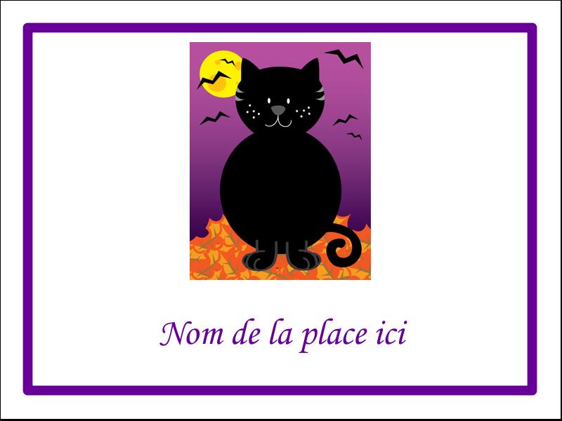 """4"""" x 3"""" Badges - Chatte noire d'Halloween"""