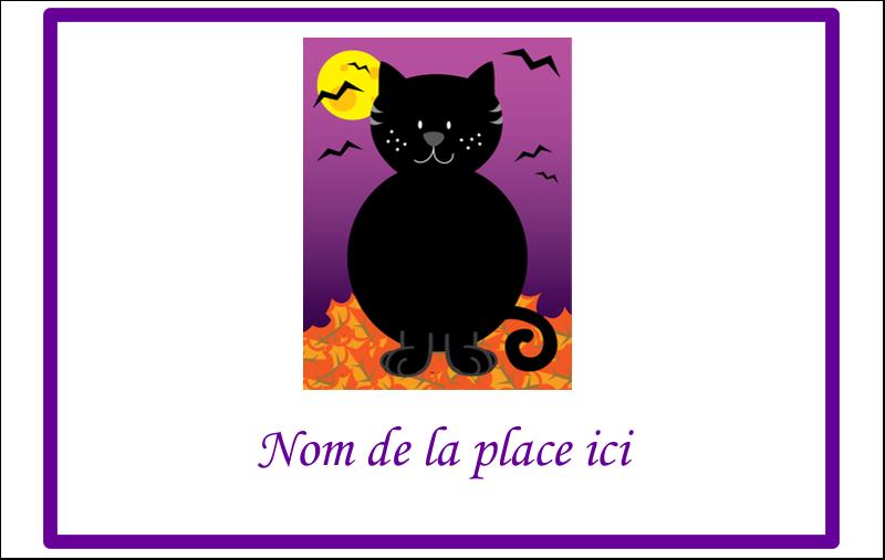 """2¼"""" x 3½"""" Badges - Chatte noire d'Halloween"""