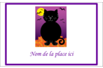 Chatte noire d'Halloween Badges - gabarit prédéfini. <br/>Utilisez notre logiciel Avery Design & Print Online pour personnaliser facilement la conception.