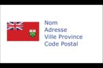 Drapeau de l'Ontario  Carte d'affaire - gabarit prédéfini. <br/>Utilisez notre logiciel Avery Design & Print Online pour personnaliser facilement la conception.
