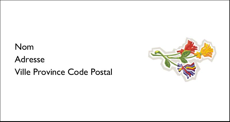 Trois fleurs Étiquettes Pour Copieurs - gabarit prédéfini. <br/>Utilisez notre logiciel Avery Design & Print Online pour personnaliser facilement la conception.