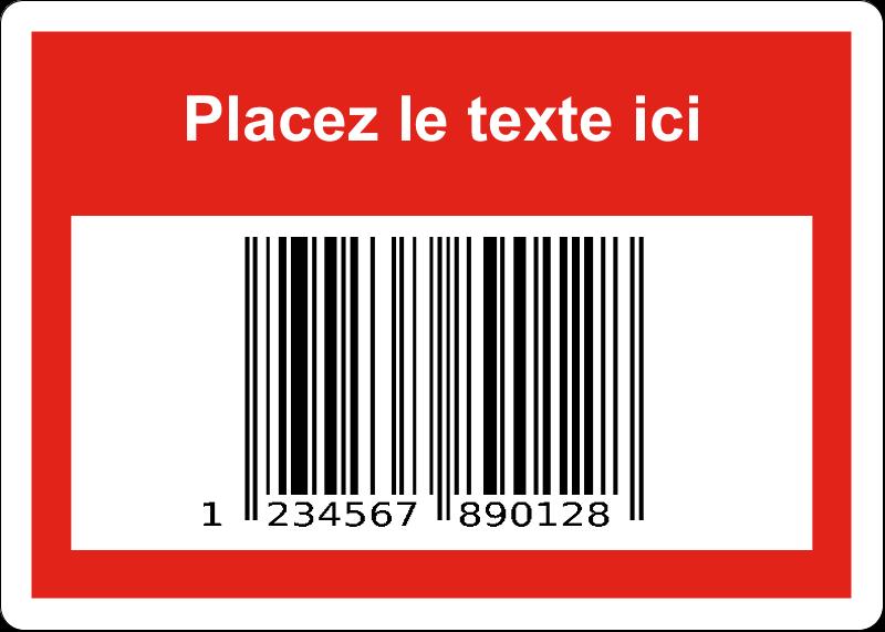 """1¾"""" x 1¼"""" Étiquettes D'Identification - Code-barres de série"""