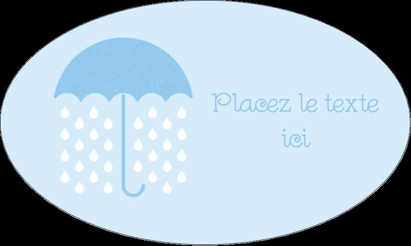 """1½"""" x 2½"""" Étiquettes ovales - Parapluie pour bébé"""