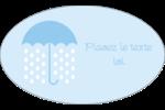 Parapluie pour bébé Étiquettes ovales - gabarit prédéfini. <br/>Utilisez notre logiciel Avery Design & Print Online pour personnaliser facilement la conception.