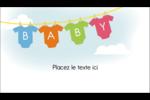 Combinaisons pour bébé Carte d'affaire - gabarit prédéfini. <br/>Utilisez notre logiciel Avery Design & Print Online pour personnaliser facilement la conception.