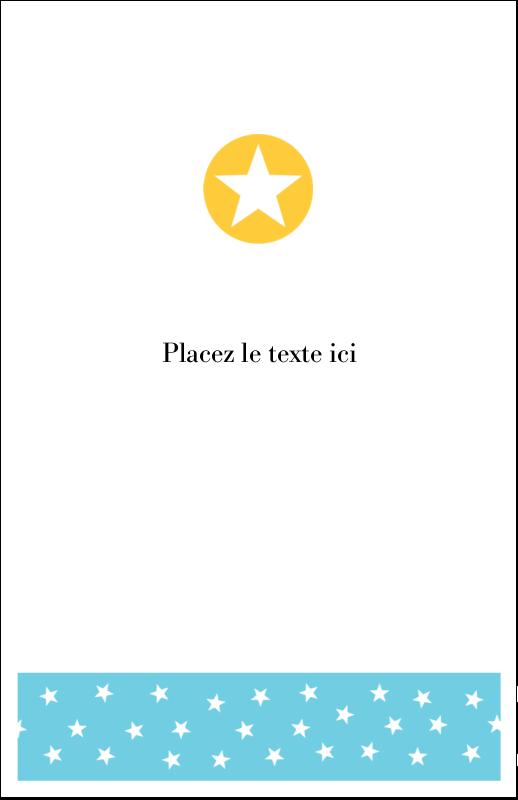 """8½"""" x 5"""" Cartes Et Articles D'Artisanat Imprimables - Étoiles avec tons bleus et jaunes"""