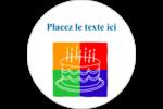 Gâteau d'anniversaire Étiquettes rondes - gabarit prédéfini. <br/>Utilisez notre logiciel Avery Design & Print Online pour personnaliser facilement la conception.