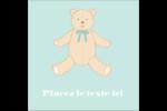 Nounours pour bébé Étiquettes carrées - gabarit prédéfini. <br/>Utilisez notre logiciel Avery Design & Print Online pour personnaliser facilement la conception.