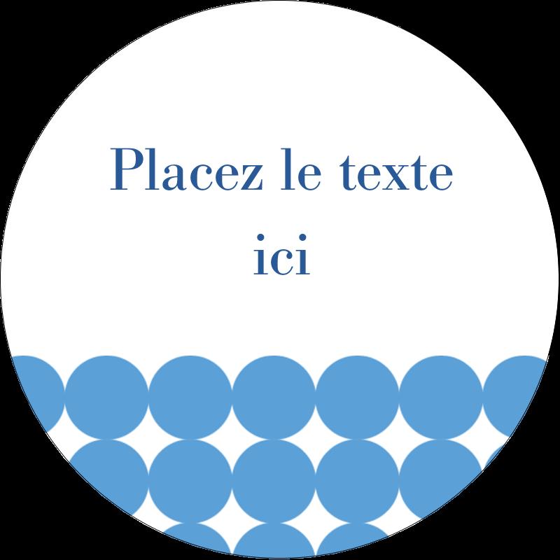 """2"""" Diameter Étiquettes rondes - Cercles bleus"""