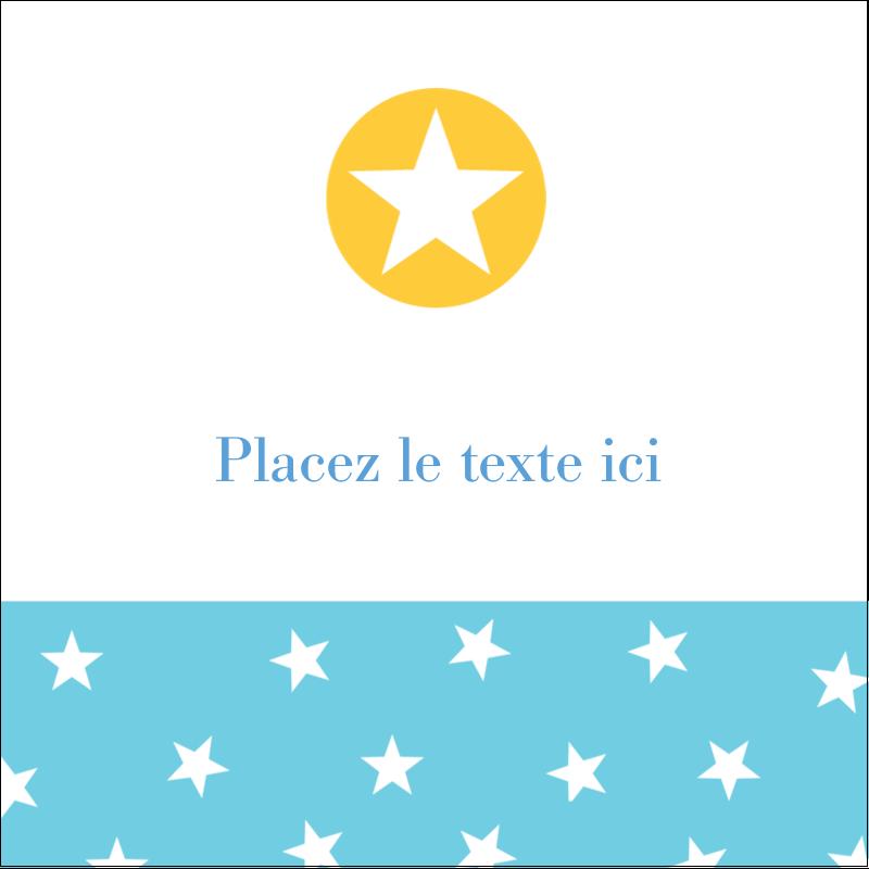 """2"""" x 2"""" Étiquettes carrées - Étoiles avec tons bleus et jaunes"""