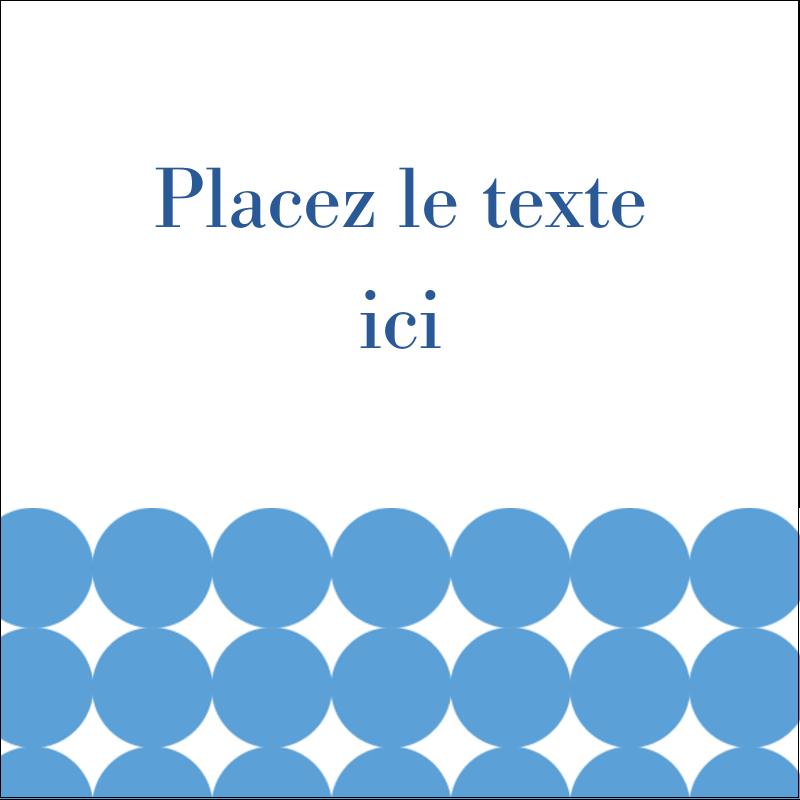 """2"""" x 2"""" Étiquettes carrées - Cercles bleus"""