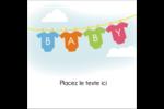 Combinaisons pour bébé Étiquettes carrées - gabarit prédéfini. <br/>Utilisez notre logiciel Avery Design & Print Online pour personnaliser facilement la conception.