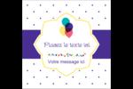 Fournitures d'anniversaire Étiquettes carrées - gabarit prédéfini. <br/>Utilisez notre logiciel Avery Design & Print Online pour personnaliser facilement la conception.