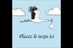 Cigogne et bébé d'antan Étiquettes carrées - gabarit prédéfini. <br/>Utilisez notre logiciel Avery Design & Print Online pour personnaliser facilement la conception.