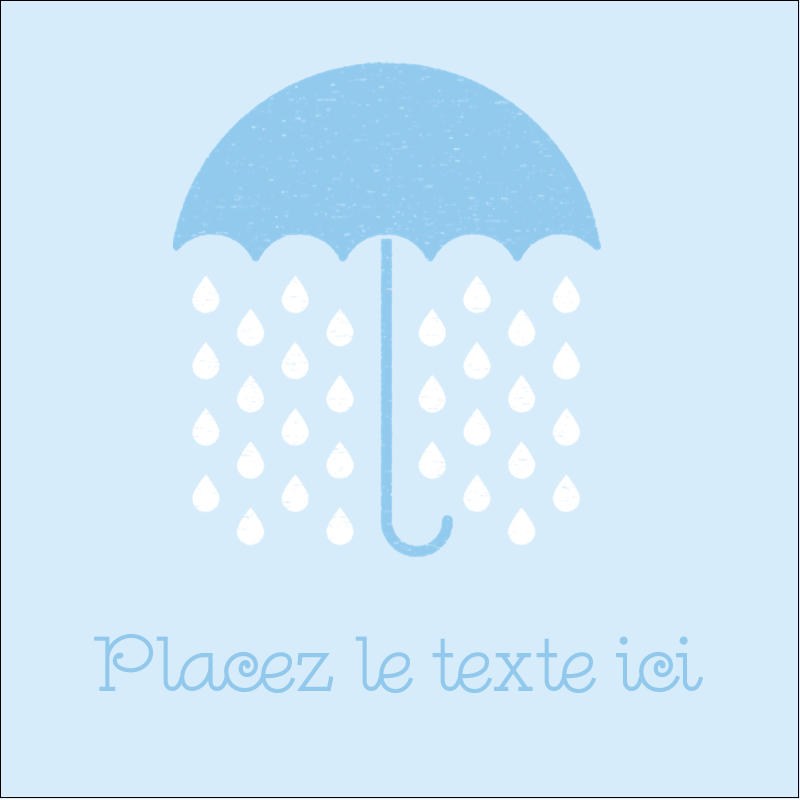 """2"""" x 2"""" Étiquettes carrées - Parapluie pour bébé"""