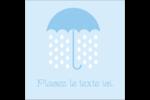 Parapluie pour bébé Étiquettes carrées - gabarit prédéfini. <br/>Utilisez notre logiciel Avery Design & Print Online pour personnaliser facilement la conception.