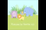 Bébé safari Étiquettes carrées - gabarit prédéfini. <br/>Utilisez notre logiciel Avery Design & Print Online pour personnaliser facilement la conception.