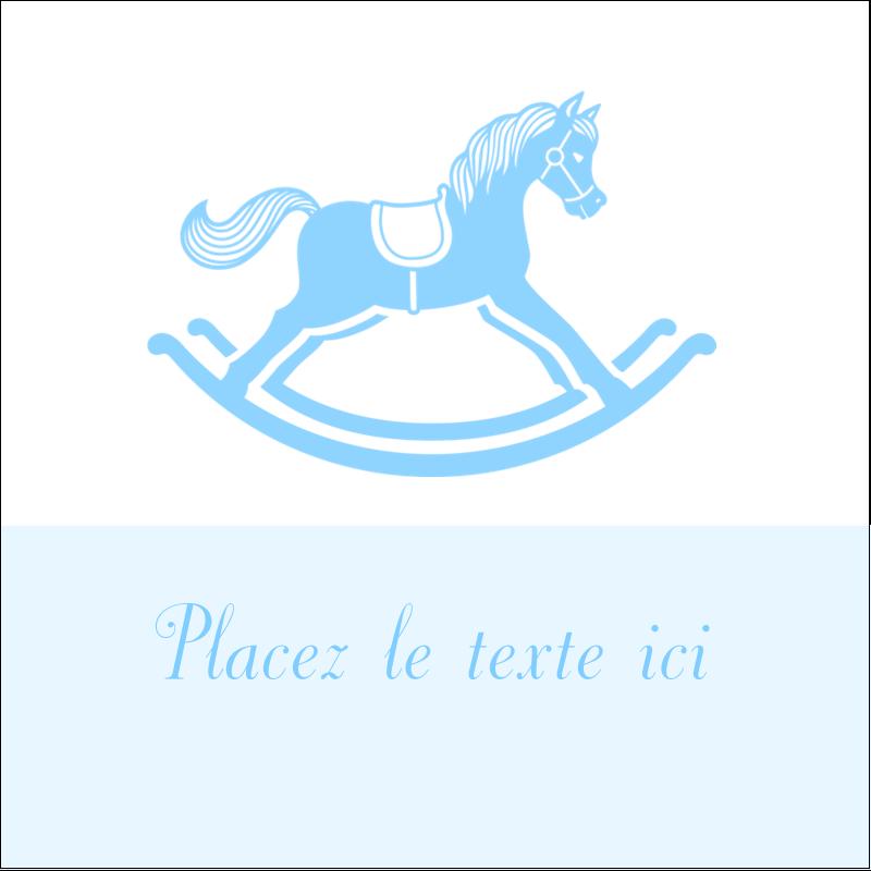 """1½"""" x 1½"""" Étiquettes carrées - Cheval à bascule"""